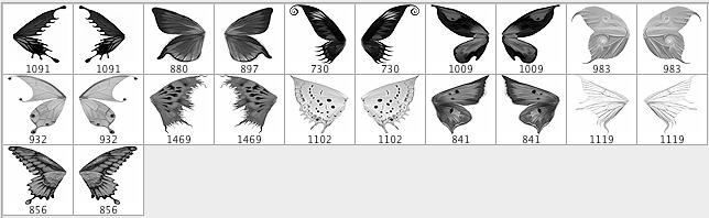 скачать шаблоны бабочек: