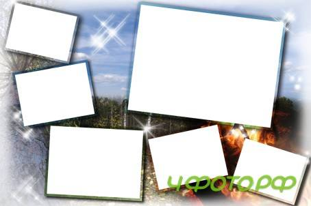 коллаж шаблон для нескольких фотографий в фотошопе