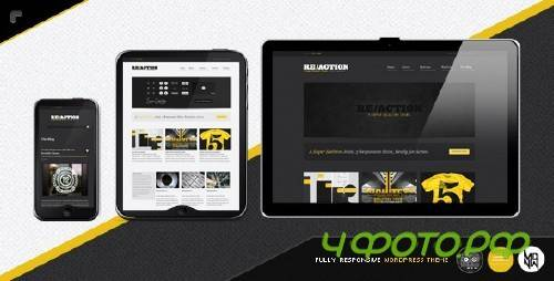 Themeforest Reaction WP : Responsive, Rugged, Bold