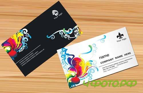 Beautiful pattern of foreign business card template