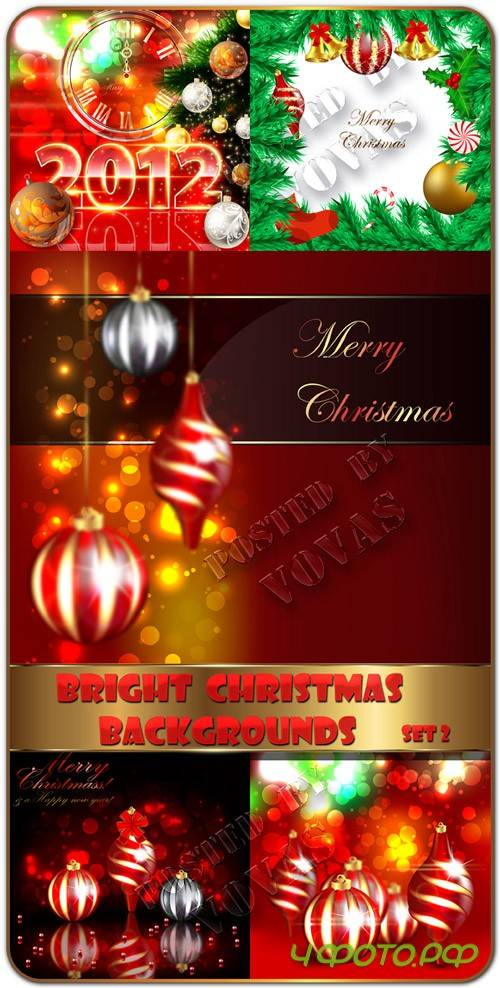 Bright Christmas vector backgrounds2