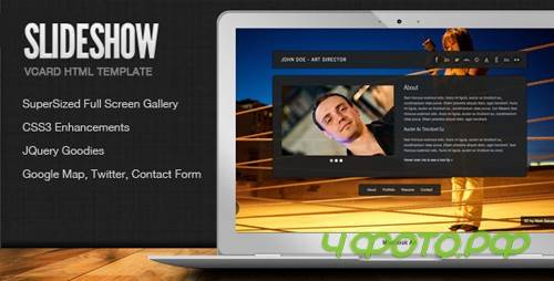 ThemeForest - SlideShow - Stylish Online vCard Html Template - Rip