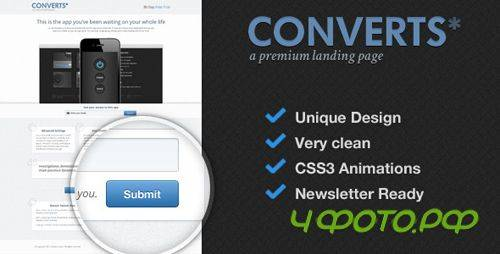 ThemeForest - mfx - Converts Landing Page - Rip