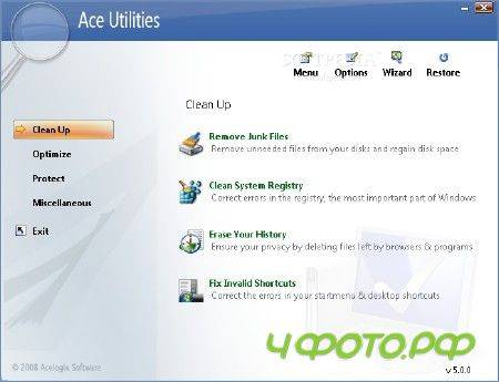 Ace Utilities v 5.2.5 Build 475 Final Portable (2012/ENG)