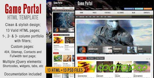ThemeForest - Game Portal HTML Template - RiP