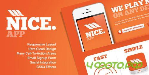 ThemeForest - Nice app - Responsive Landing Page - RiP