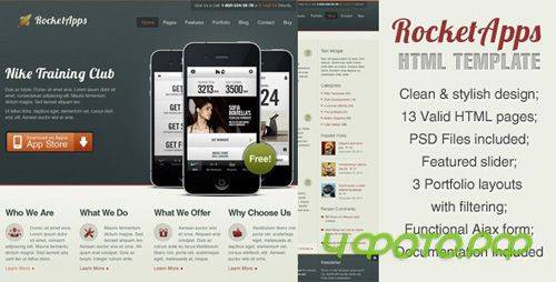 ThemeForest - Rocket Apps HTML/jQuery Template - RiP