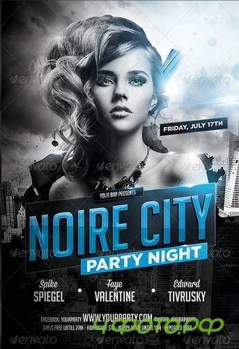 GraphicRiver - Noire City Party Flyer Template