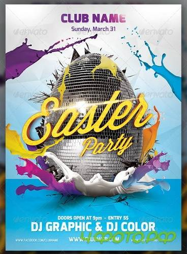 GraphicRiver - Easter Party Flayer Template