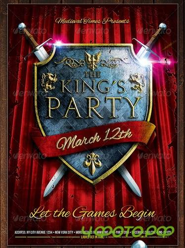 GraphicRiver - The King's Party Flyer
