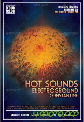 GraphicRiver - Hot Sounds Flyer Template