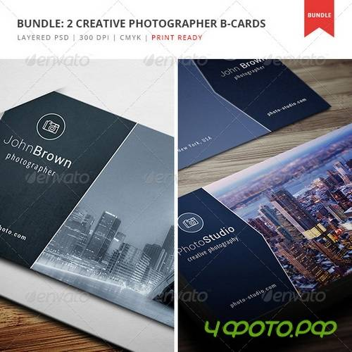 GraphicRiver - Bundle - 2 Creative Photographer Business Cards