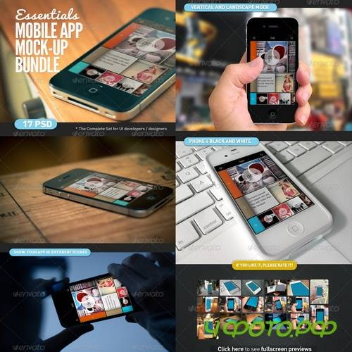 GraphicRiver - Mobile App | Screen Mock-Up Essentials Bundle - 4354649