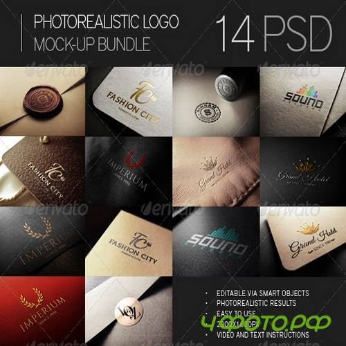 GraphicRiver - Photorealistic Logo Mock-Up Bundle - 7394151