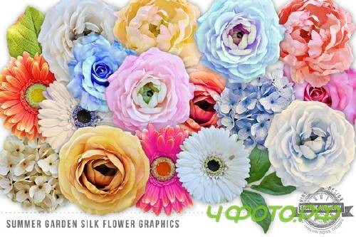 Summer Garden Silk Flowers Graphics - 53046