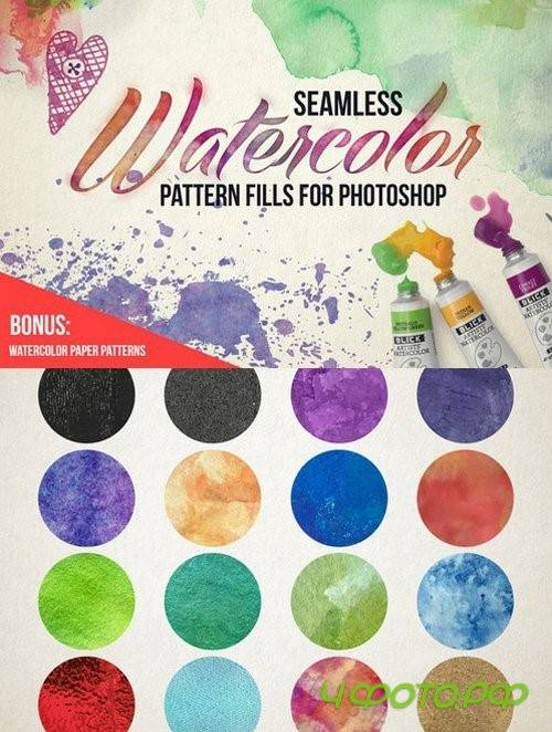 Seamless Watercolor Pattern Fills - 806518