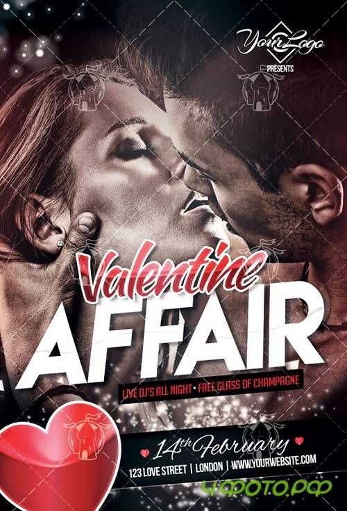 Valentine Affair Flyer Template - 919589