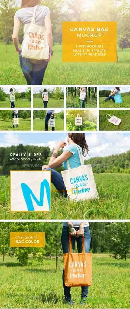 Canvas Bag Mockup - 17158628