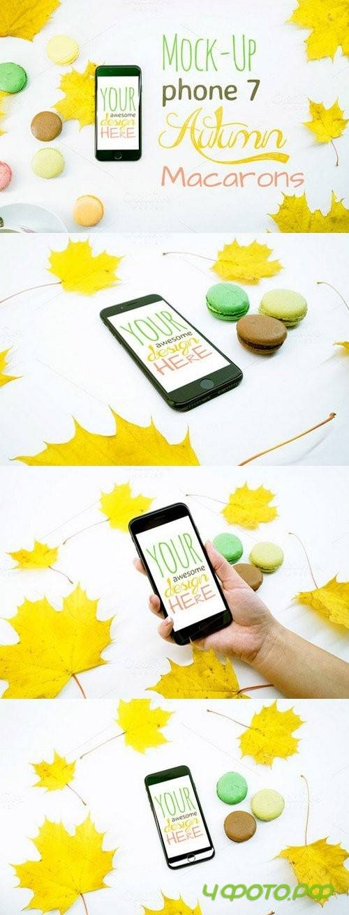 Mock-Up Phone 7 Autumn Macarons 9in1 1013230
