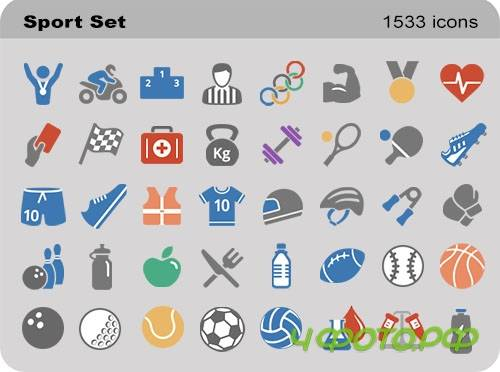 Sport Set - Pure Flat Toolbar Stock Icons
