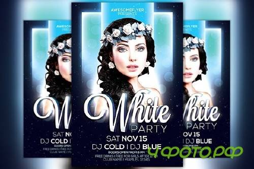 White Night Party Flyer Template - 100568