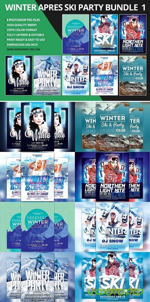 Winter Flyer Template Bundle - 1098099