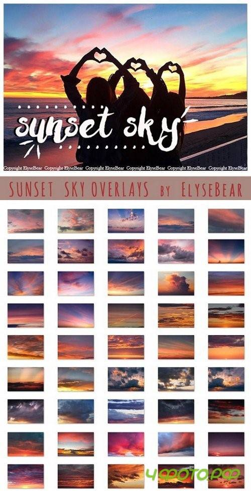 50 Sunset Sky Photoshop Overlays 1100892