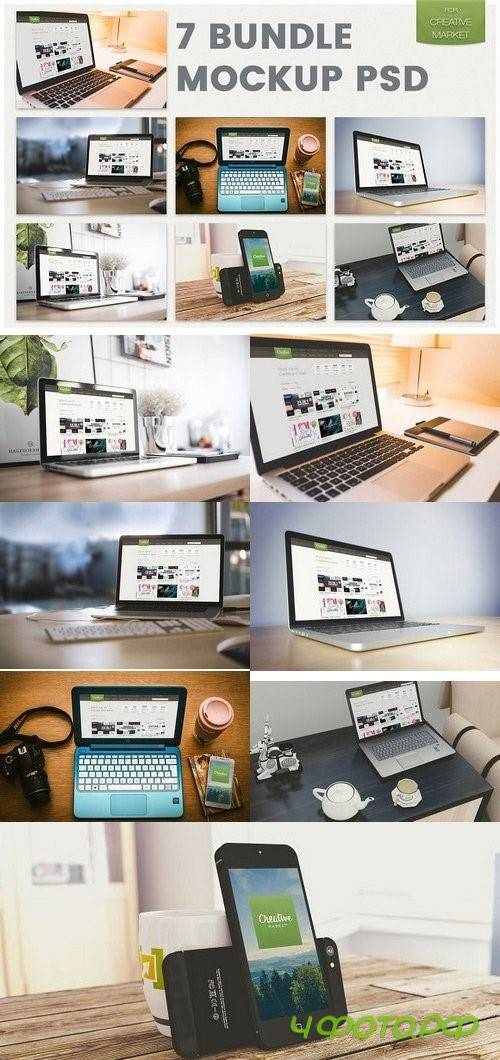 7 mockup bundle psd 1095550