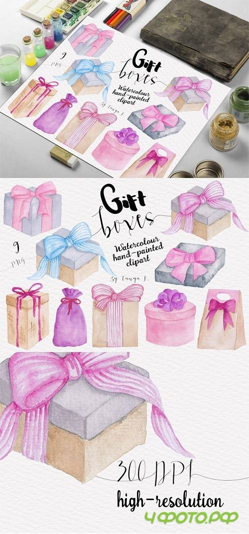 Gift Boxes Watercolor Collection - 724769