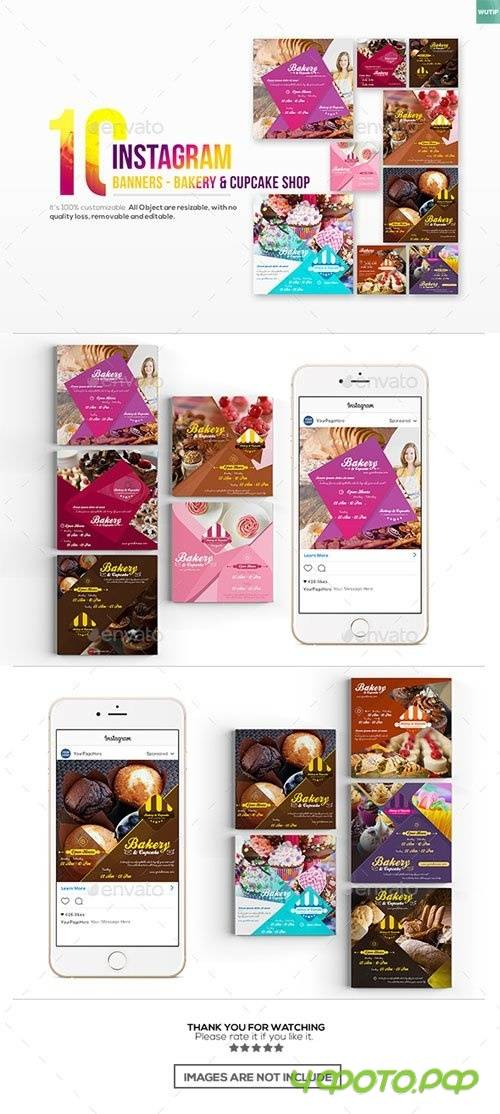 10 Instagram Post Banner - Bakery and Cupcake Shop - 19284479