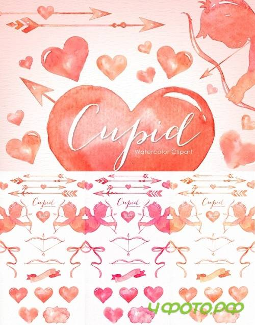 Cupid Valentine's Watercolor Clipart 1156371