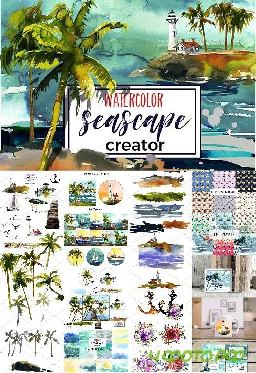 Watercolor Seascape Creator Kit - 1140993