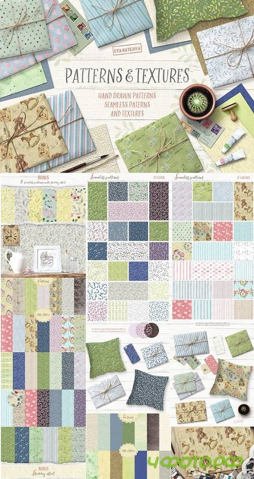 Watercolor Patterns and Textures - 1327572
