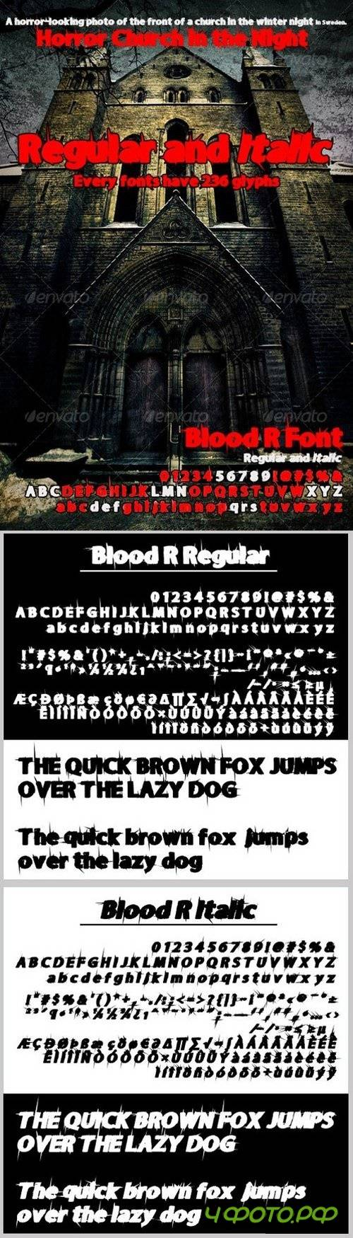 Blood R regular & Italic 1313075