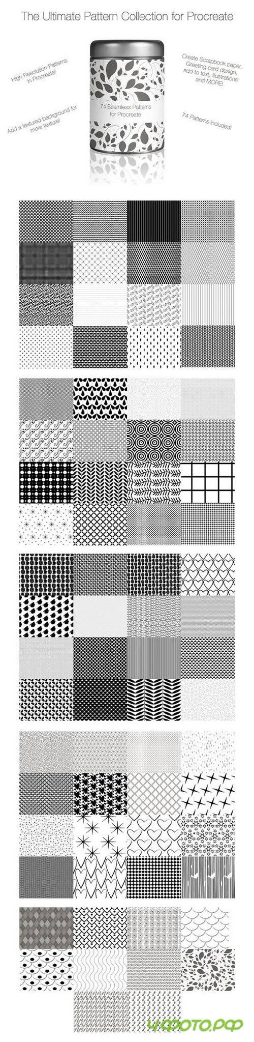 74 Seamless Patterns for Procreate 1354811