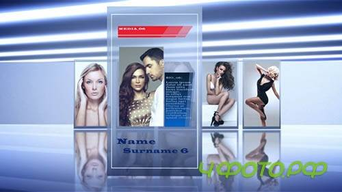 After Effects template - Card Slideshow (VideoBlocks)