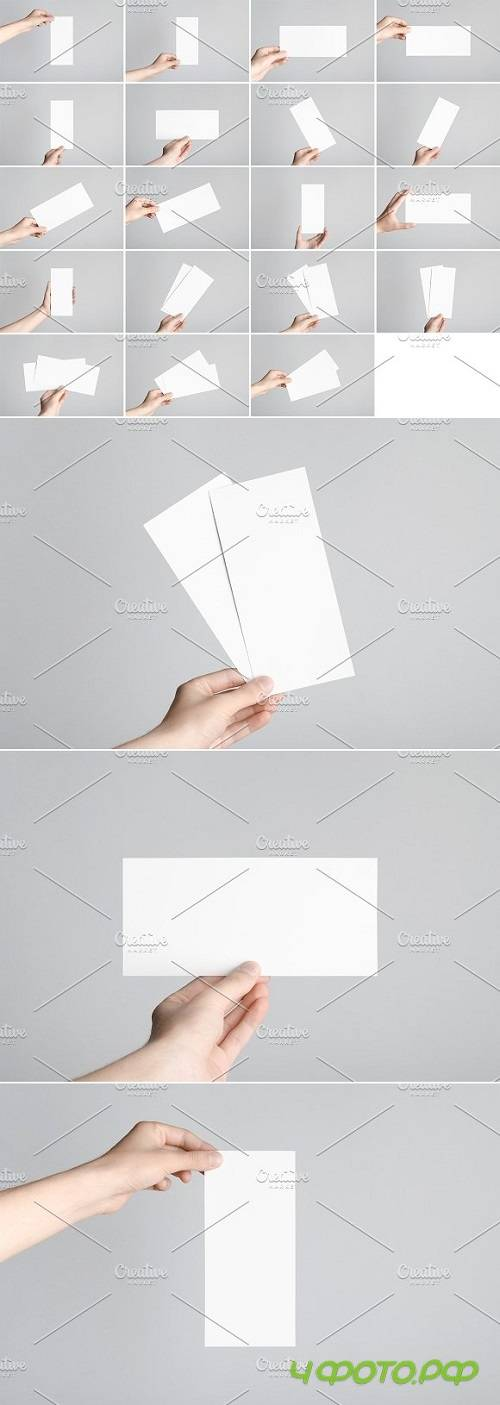 DL Flyer Mock-Up Stock Photo Bundle 1369379
