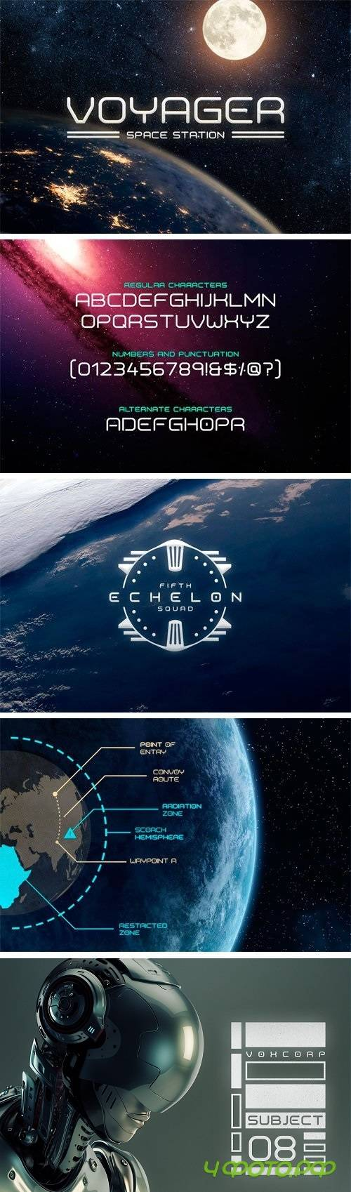 Voyager Typeface - 1435983