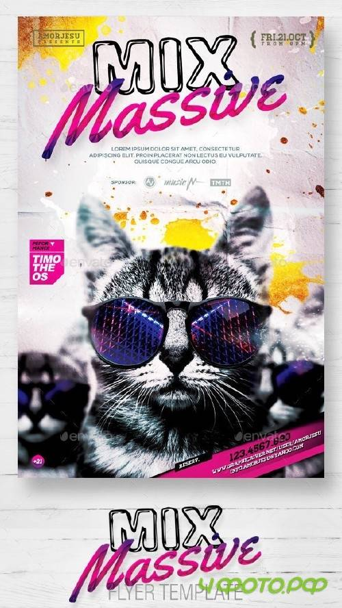 Mix Massive Flyer Template 12132212