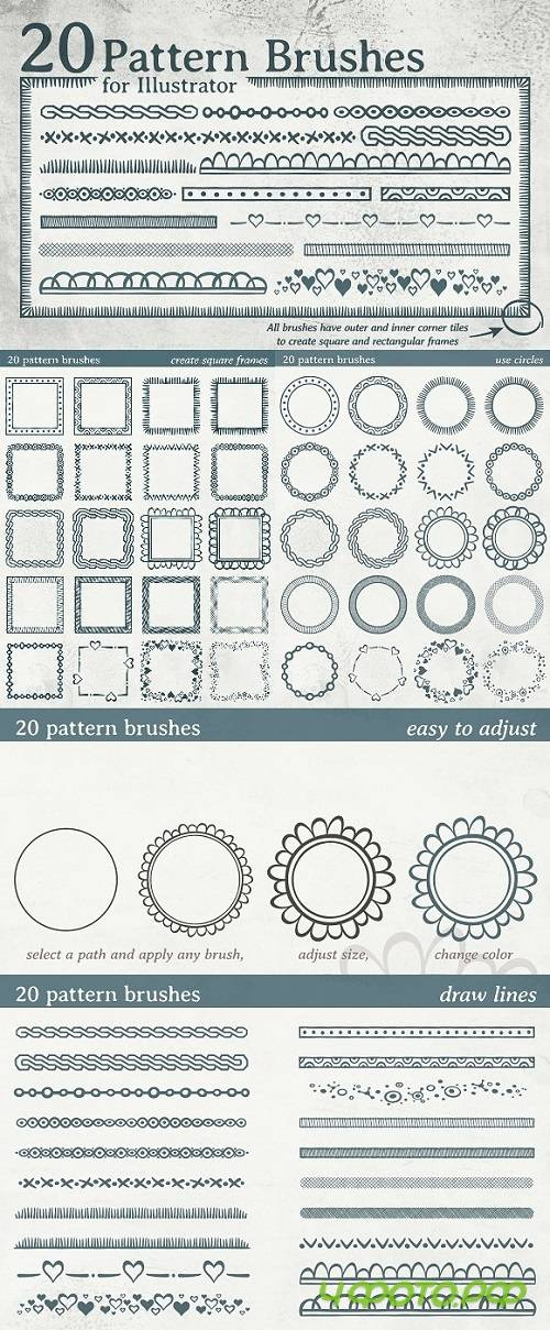 20 pattern brushes 1234464