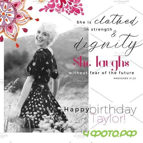 Birthday Christian Template Graphic 1489277