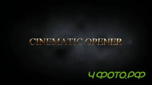 After Effects template - Cinematic Opener