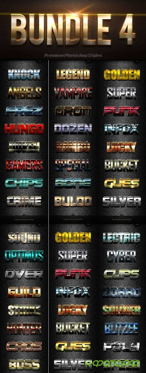 40 Photoshop Text Effects Bundles 4 - 19978420