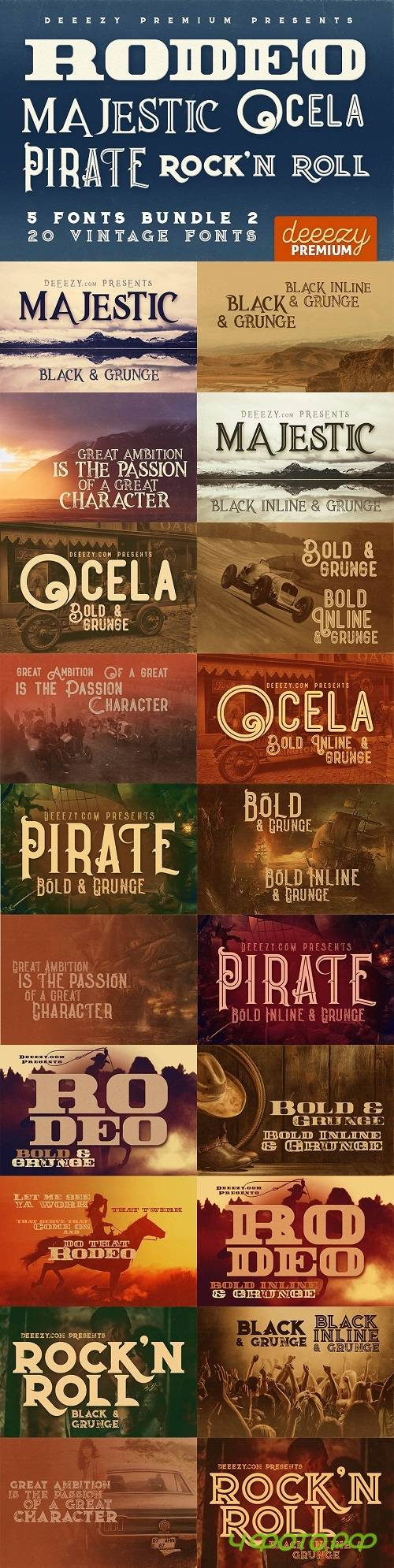 5 Fonts Bundle 2 - 1526201