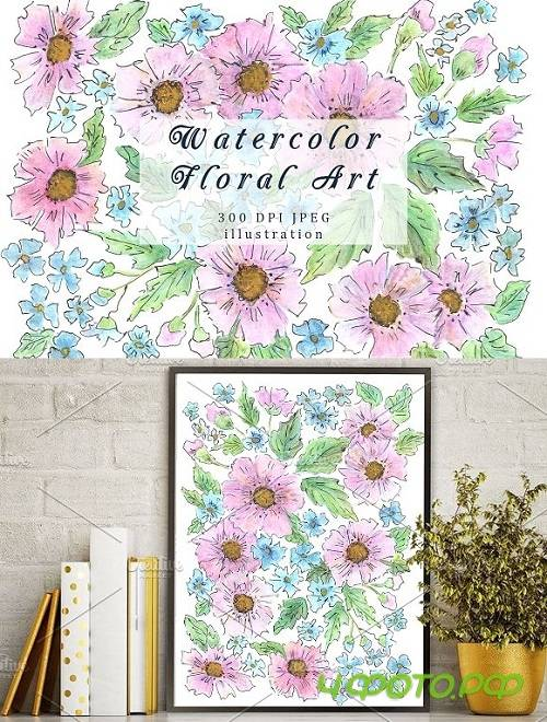 Floral watercolor illustration 1592679