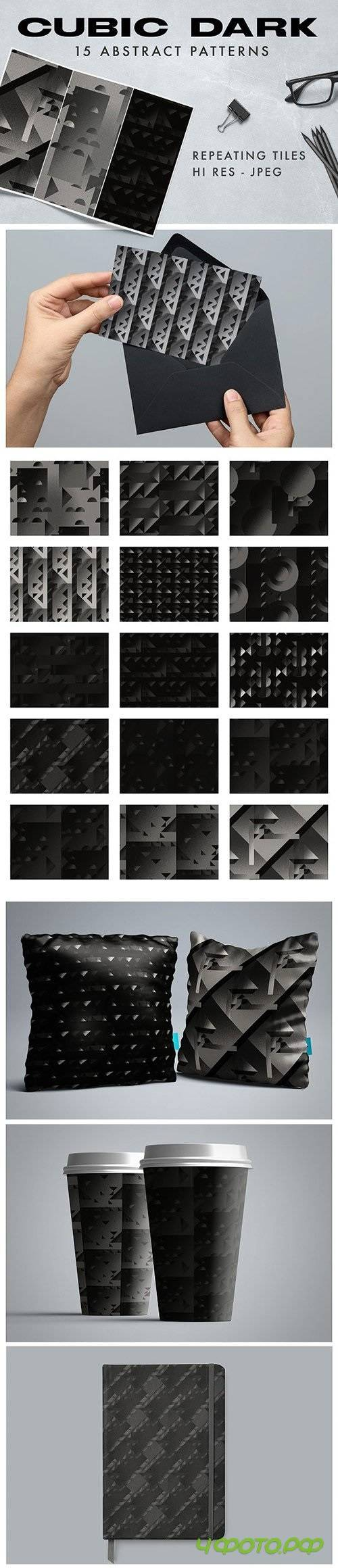 Cubic Dark Abstract Patterns 1293375