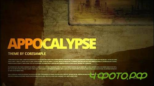 After Effects template - Apocalypse