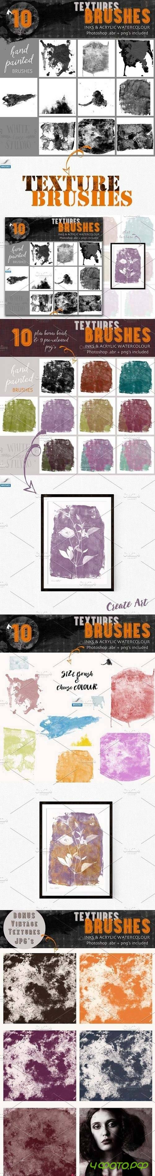Textures Brushes- Inks & Acrylics 1596098