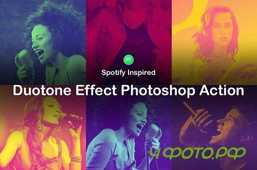 Duotone Effect Photoshop Action 1605387