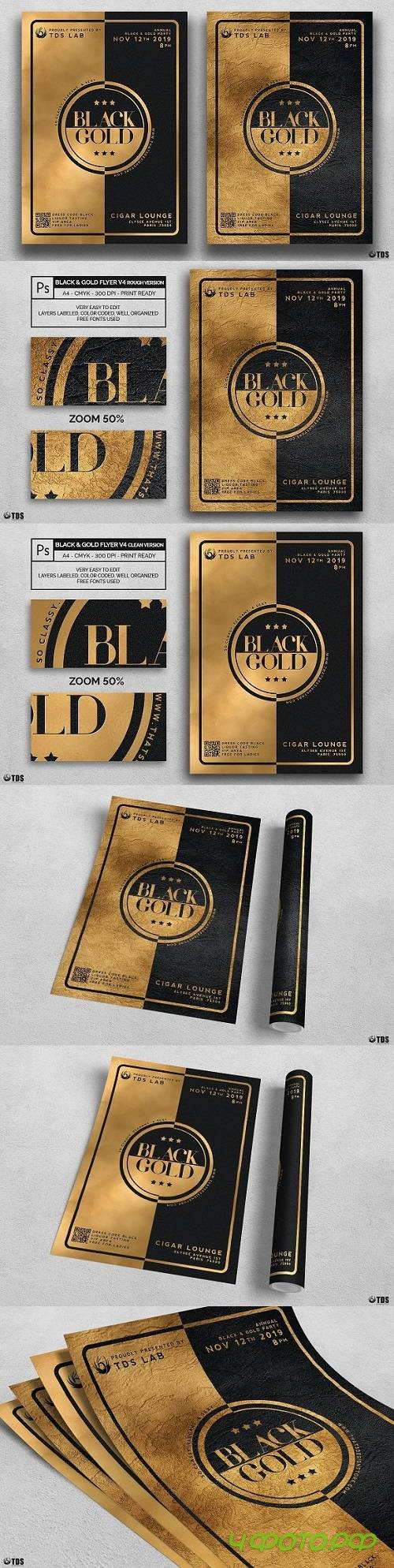 Minimal Black and Gold Flyer V4 1754923